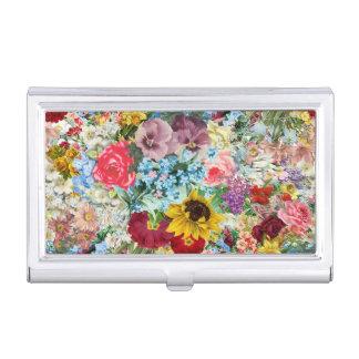 Colorful Vintage Floral Business Card Holder