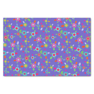 Colorful vintage flowers tissue paper