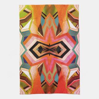 Colorful Vintage Geometric Vibes Tea Towel