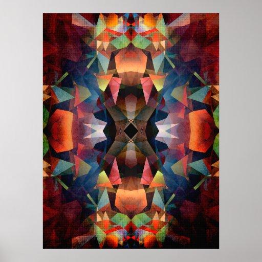 Colorful Vintage Mandala Print