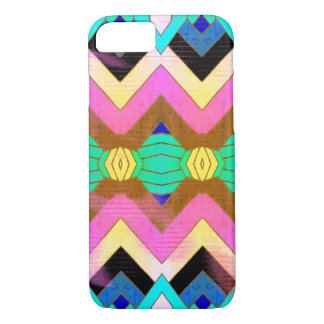 Colorful Vintage Meets Modern Pattern iPhone 8/7 Case