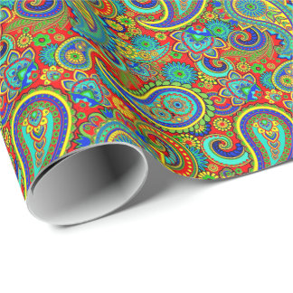 Colorful Vintage Orante Paisley Wrapping Paper