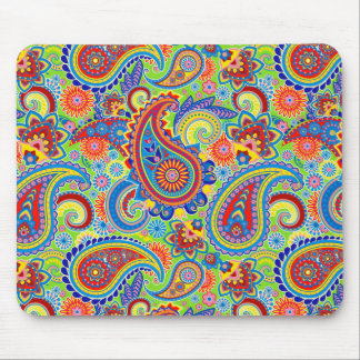 Colorful Vintage Ornate Floral Paisley Mouse Pad