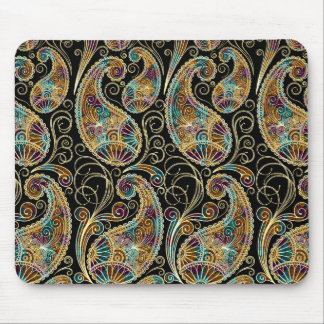 Colorful Vintage Ornate Paisley Design Mouse Pad