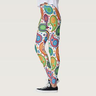 Colorful Vintage Paisley Pattern Leggings