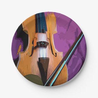 Colorful vintage paper plate - Viola