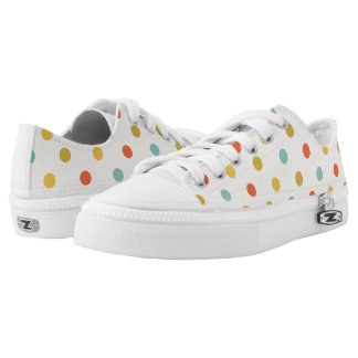 Colorful Vintage polka dot Pattern Printed Shoes