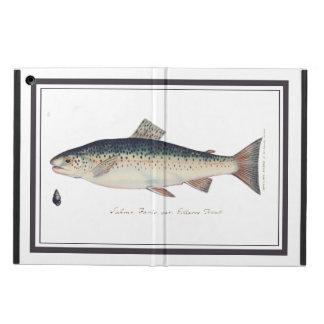Colorful vintage salmon illustration iPad air cover