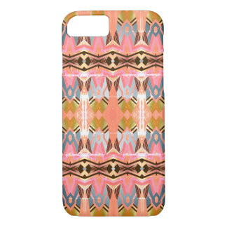 Colorful Vintage Style Geometric Pink Pattern iPhone 8/7 Case