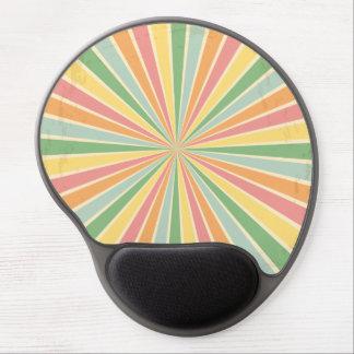 Colorful vintage sunburst gel mouse pad