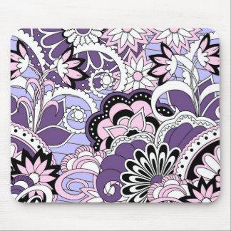 colorful violet boho pattern mouse pad