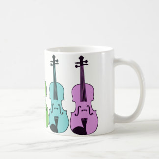 Colorful Violin Coffee Mug