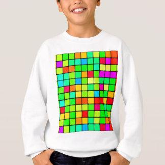 Colorful Vivid Design Retro Squares Sweatshirt