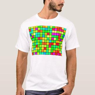 Colorful Vivid Design Retro Squares T-Shirt