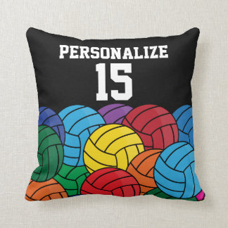 Colorful Volleyball Collage   DIY Name & Number Cushion