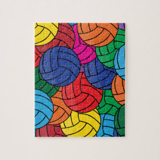 Colorful Volleyball Collage Jigsaw Puzzles