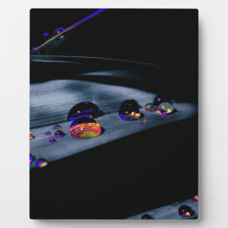Colorful Water Drops Display Plaque