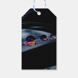 Colorful Water Drops Gift Tags