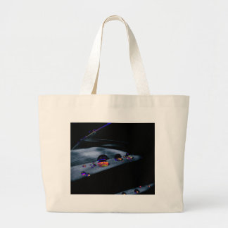 Colorful Water Drops Large Tote Bag