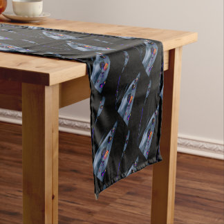 Colorful Water Drops Short Table Runner