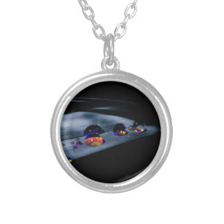 Colorful Water Drops Silver Plated Necklace
