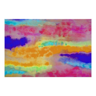 Colorful Watercolor abstract Poster