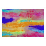 Colorful Watercolor abstract Print
