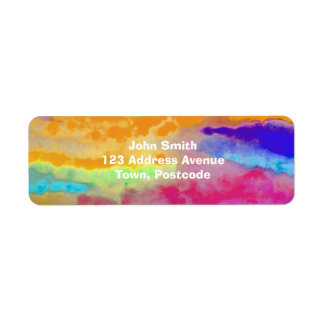 Colorful Watercolor abstract Return Address Label