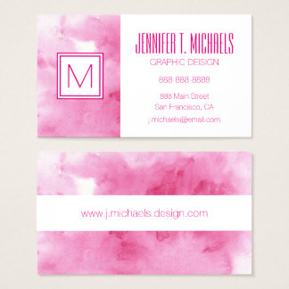 colorful watercolor background for your 2 3 business card