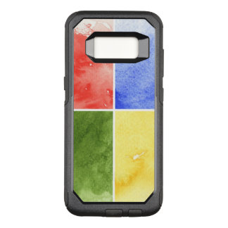 colorful watercolor background for your design OtterBox commuter samsung galaxy s8 case