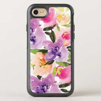 Colorful Watercolor Boho Flowers Illustration OtterBox Symmetry iPhone 8/7 Case