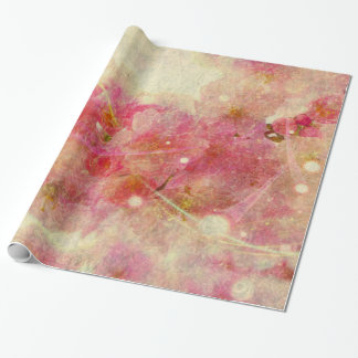 Colorful Watercolor Cherry Blossom Abstract Wrapping Paper