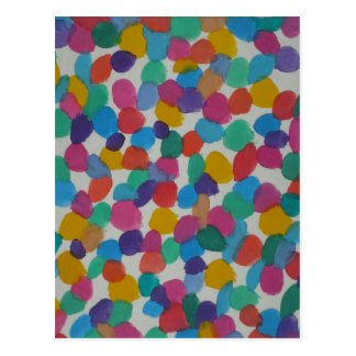 Colorful Watercolor Dots Postcard