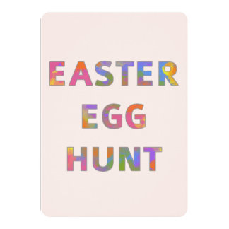 Colorful Watercolor Easter Egg Hunt Card