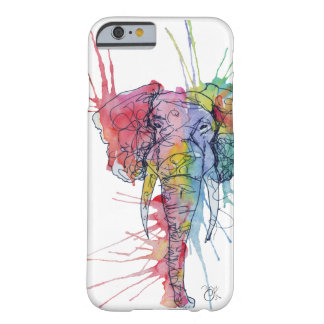 Colorful Watercolor Elephant Barely There iPhone 6 Case