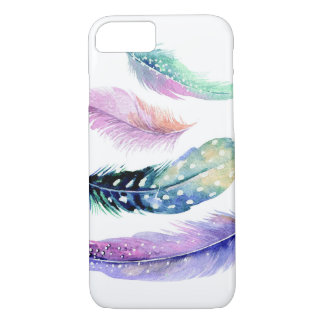 Colorful Watercolor Feathers iPhone 7 Case
