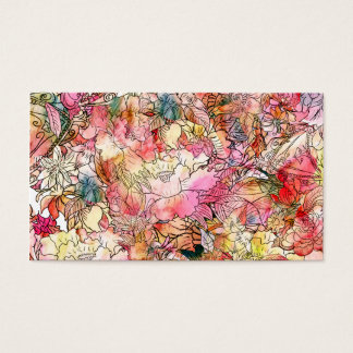 Colorful Watercolor Floral Pattern Abstract Sketch