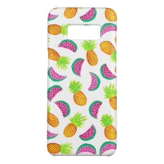 colorful watercolor pineapple watermelon pattern Case-Mate samsung galaxy s8 case