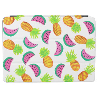 colorful watercolor pineapple watermelon pattern iPad air cover