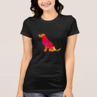 Colorful Watercolor Splash Dog Silhouette Pet Art T-Shirt