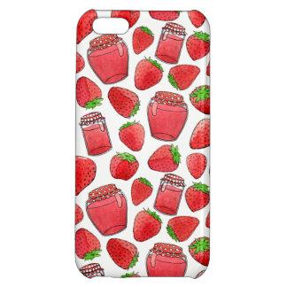 Colorful watercolor strawberries & jams iPhone 5C cover