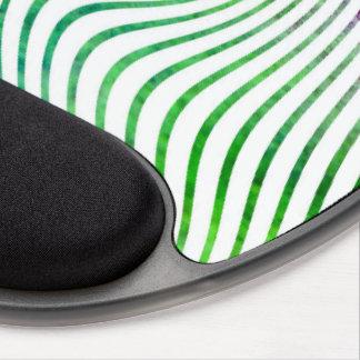 Colorful watercolor stripe swirl gel mouse pad