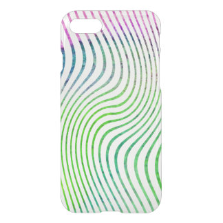 Colorful watercolor stripe swirl iPhone 8/7 case
