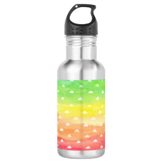 Colorful Watercolor Stripes White Triangles 532 Ml Water Bottle