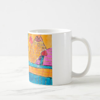 Colorful Watercolor Volcano Mug