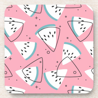Colorful Watercolor Watermelons Coaster