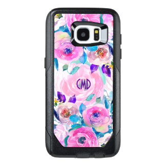 Colorful Watercolors Flowers Collage GR7 OtterBox Samsung Galaxy S7 Edge Case