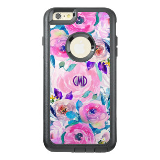 Colorful Watercolors Flowers Collage OtterBox iPhone 6/6s Plus Case