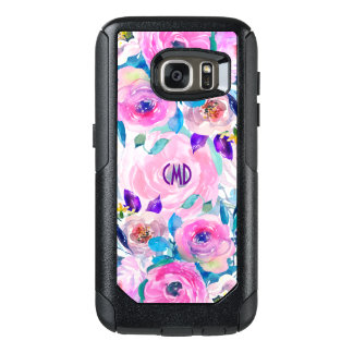 Colorful Watercolors Flowers Collage OtterBox Samsung Galaxy S7 Case