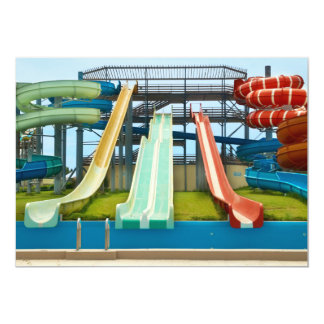Colorful Waterslides 13 Cm X 18 Cm Invitation Card